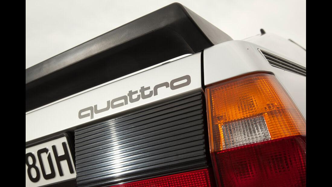 Audi quattro, Typenbezeichnung, Spoiuler