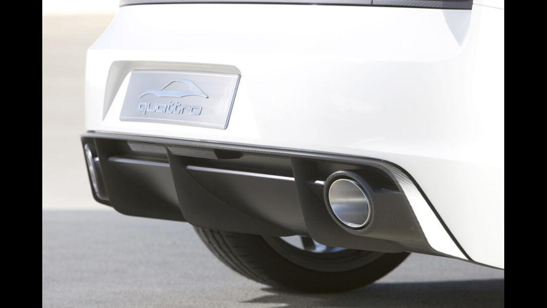 Audi quattro concept, Auspuff, Logo, Detail