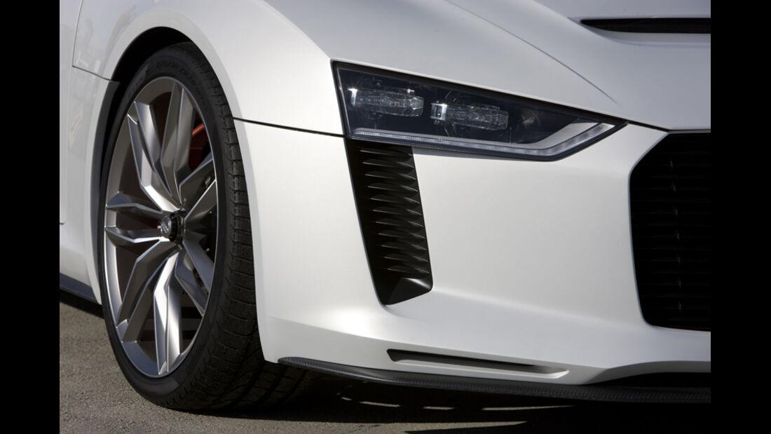 Audi quattro concept, Frontlicht, Rad, Felge, Detail