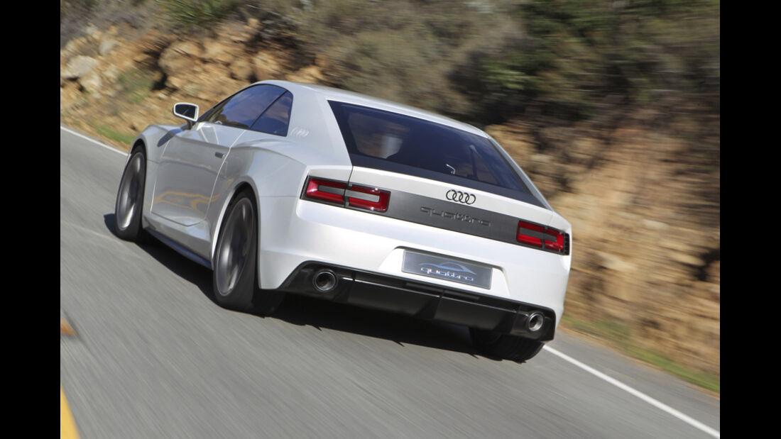Audi quattro concept, Heck