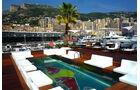 Aufbau F1-Fahrerlager Monaco