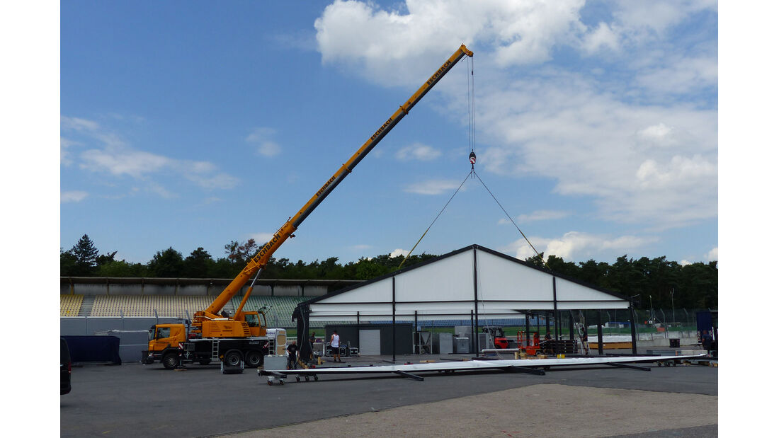 Aufbau - Formel 1 - GP Deutschland - Hockenheim - 16. Juli 2014