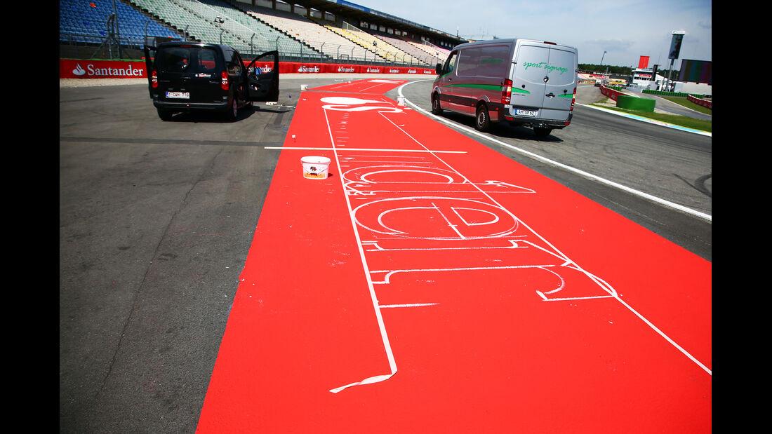 Aufbau - Formel 1 - GP Deutschland - Hockenheim - 17. Juli 2014