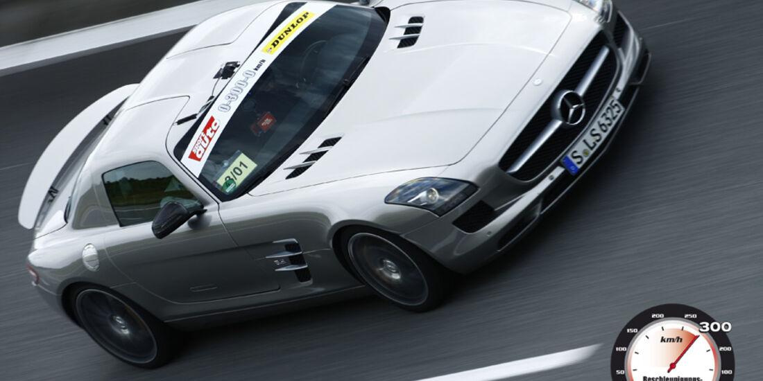 Aufmacher 0-300-0 2010, Mercedes SLS AMG