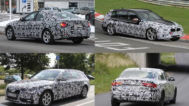 Aufmacher BMW 3er Audi A4 Erlkönig