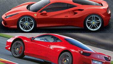 Aufmacher - Vergleich - Ferrari 488 GTB - Ferrari 458 Italia