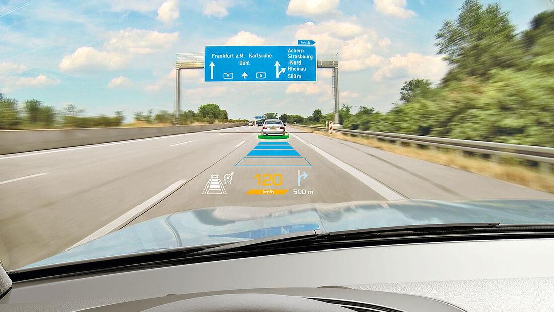 Augmented Reality im Head-up-Display (AR-HUD)