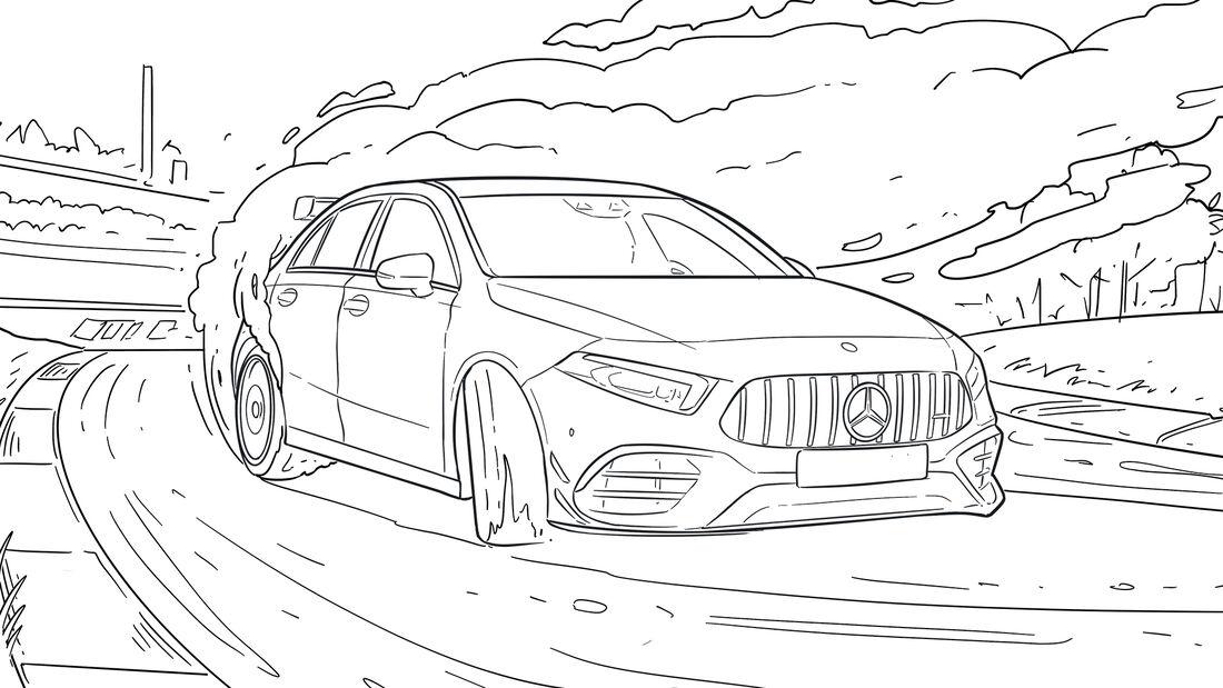 coronazeitvertreib coole ausmalbilder von heißen autos