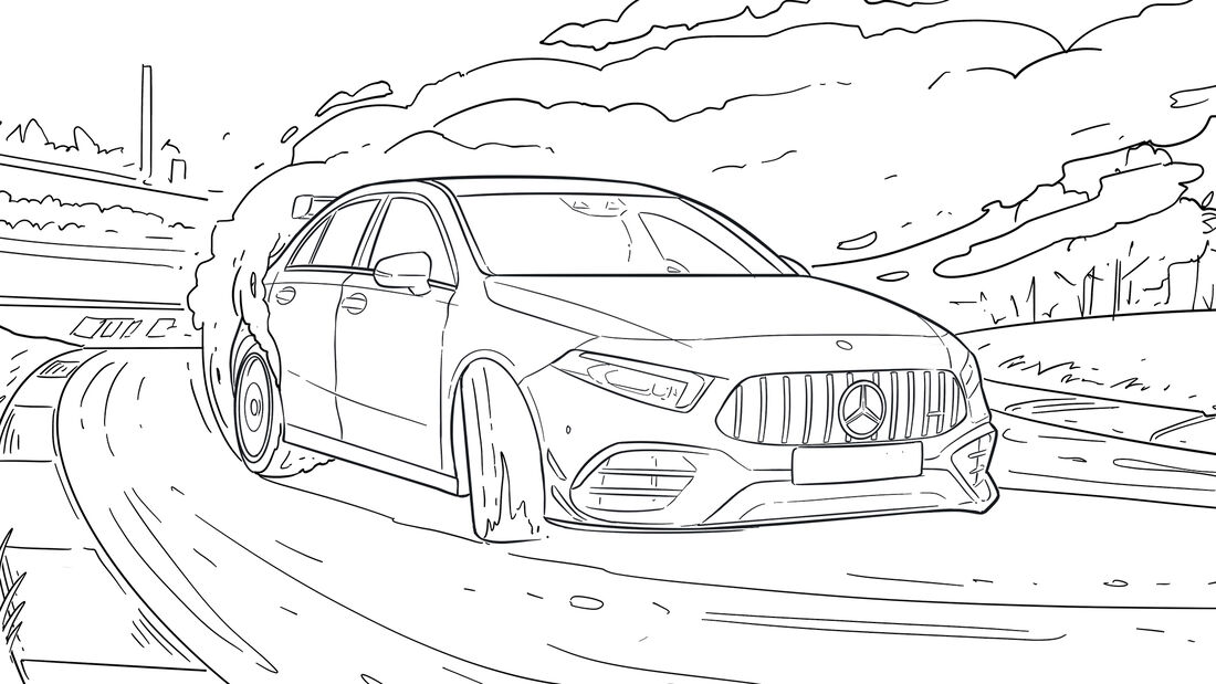 Ausmalbilder Corona Autos Mercedes-AMG GT 63 S 4MATIC+