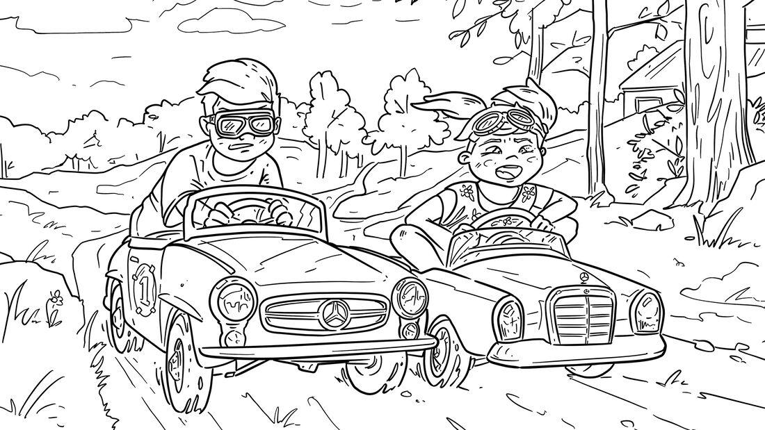 Ausmalbilder Corona Autos Mercedes-Benz