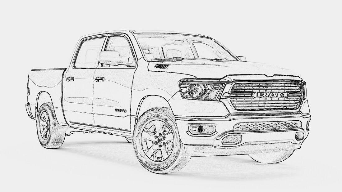 Ausmalbilder Corona Dodge Ram 1500 Lone Star