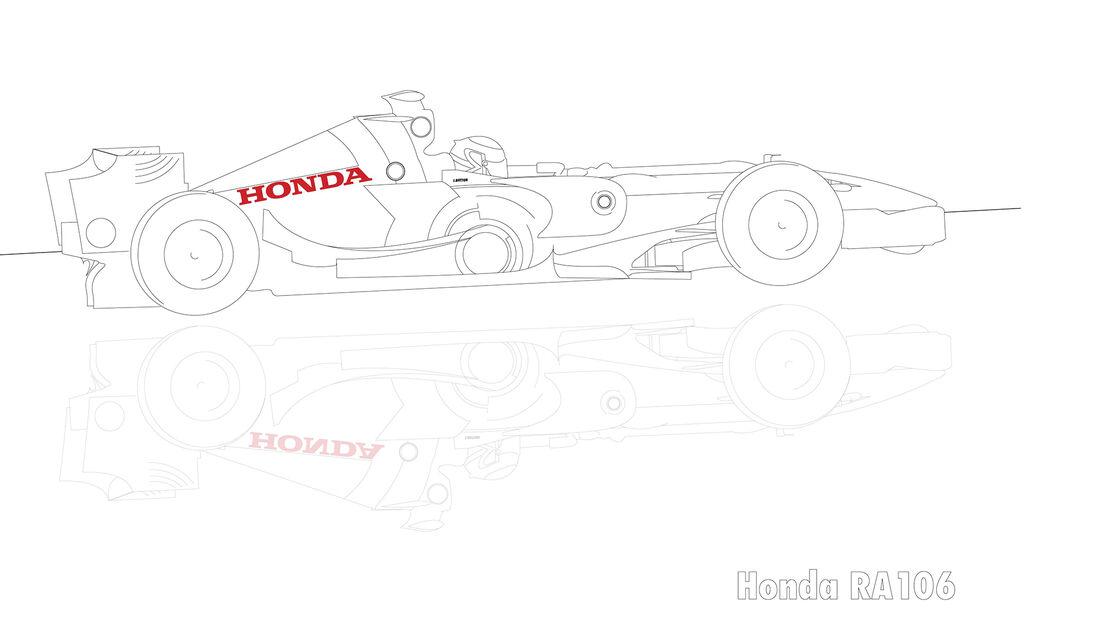 Ausmalbilder F1-Auto von Honda