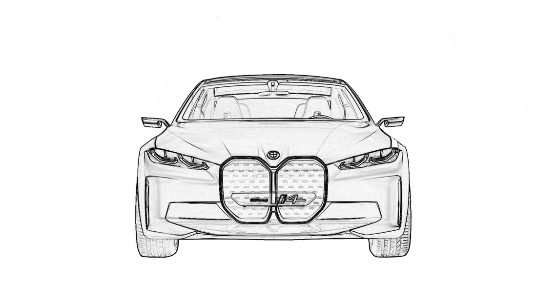 Ausmalen Coronavirus Corona BMW X4 Concept.