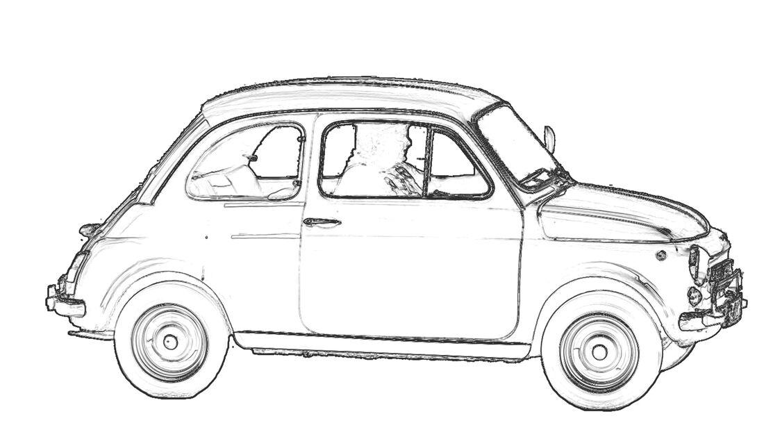 Ausmalen Coronavirus Corona Fiat 500