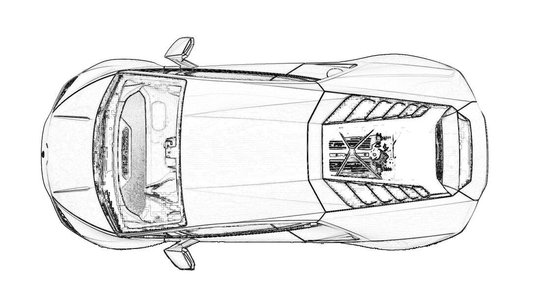 Ausmalen Coronavirus Corona Lamborghini Huracan EVO RWD