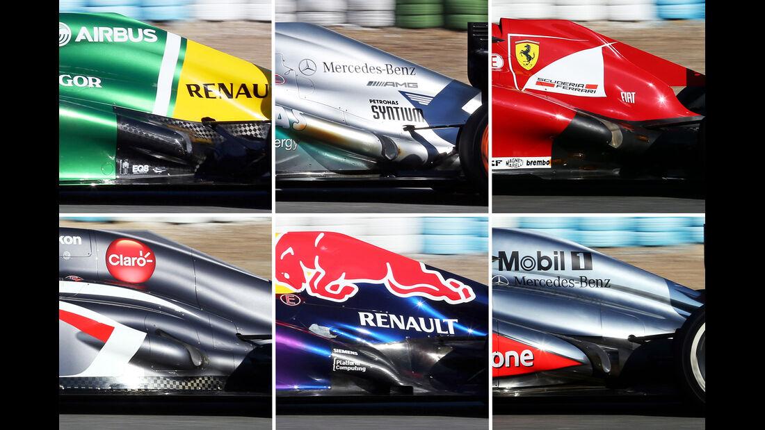 Auspuff Collage F1 2013