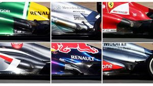Auspuff Collage F1 2013