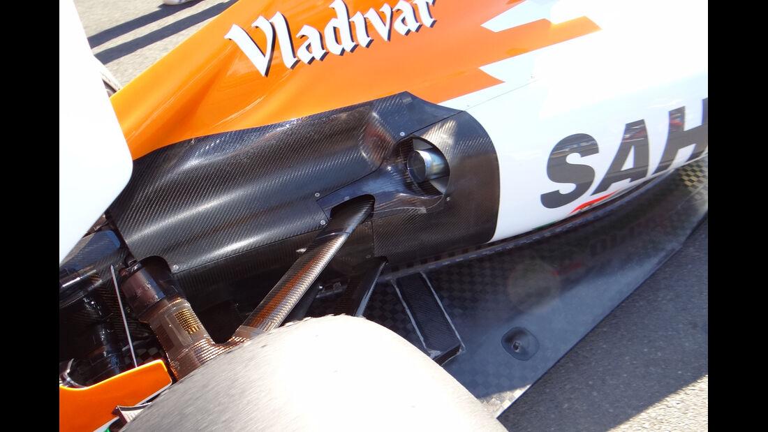 Auspuff Force India GP Australien 2012