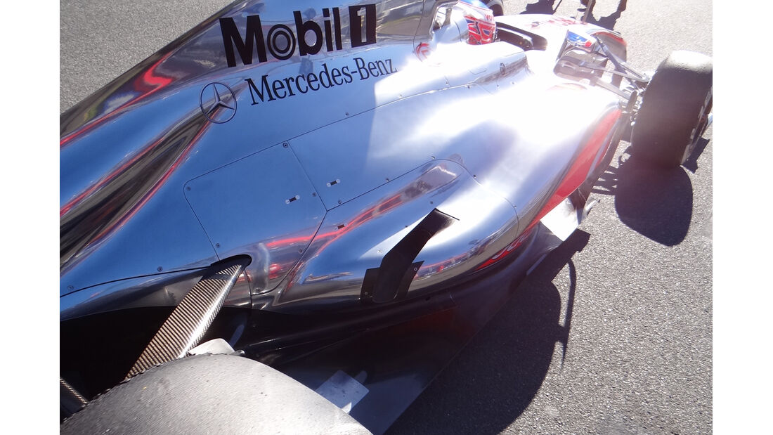 Auspuff McLaren GP Australien 2012