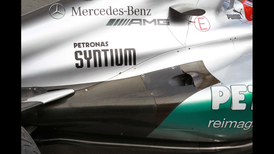 Auspuff Mercedes GP Australien 2012