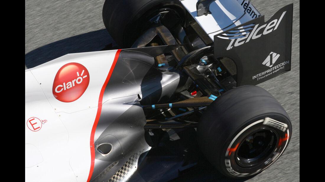 Auspuff Sauber F1 Tests 2012