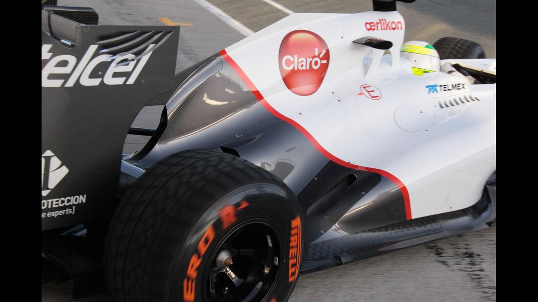 Auspuff Sauber Tests Update 2012