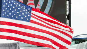 Auto usa absatz US-Absatz Flagge Fahne