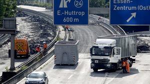 Autobahn A40 Baustelle 2012