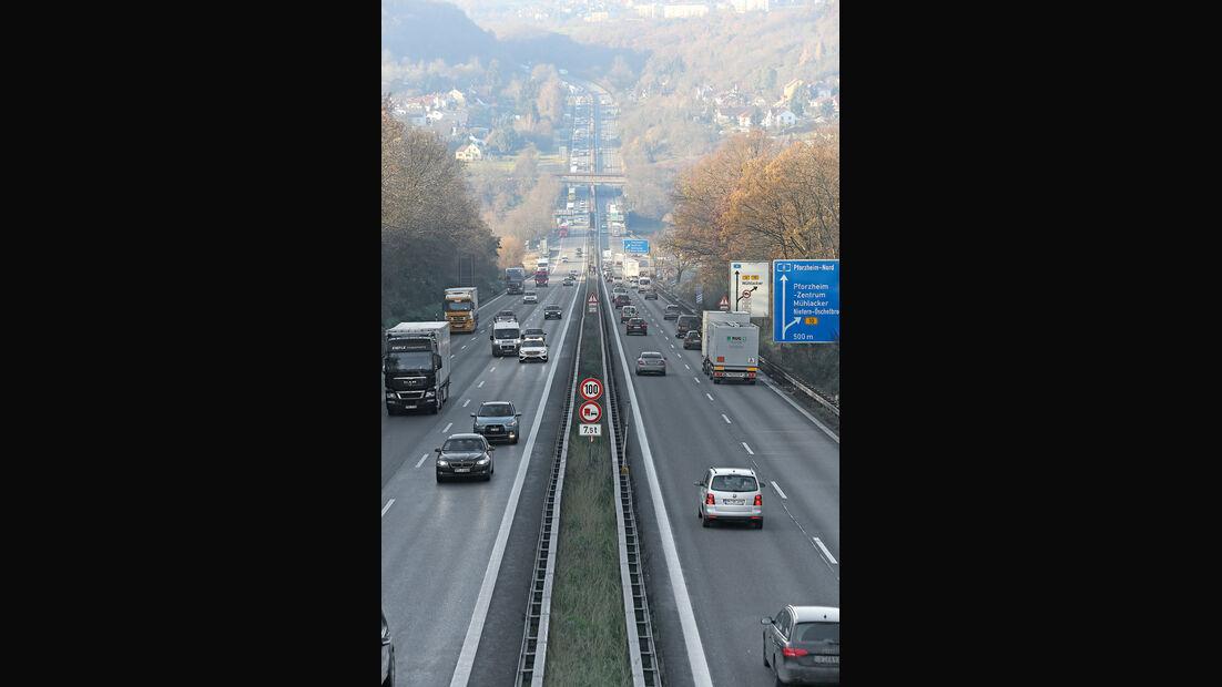 Autobahn-Reise, Mercedes S63 AMG, Gerade