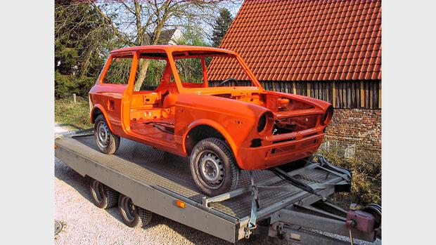 Autobianchi, A112 Junior, (1981), Restaurierung, Karosse