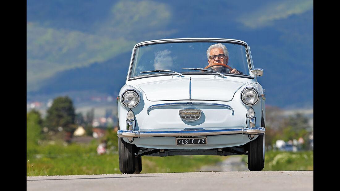 Autobianchi Bianchina Cabrio, Frontansicht