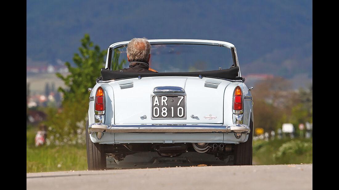 Autobianchi Bianchina Cabrio, Heckansicht