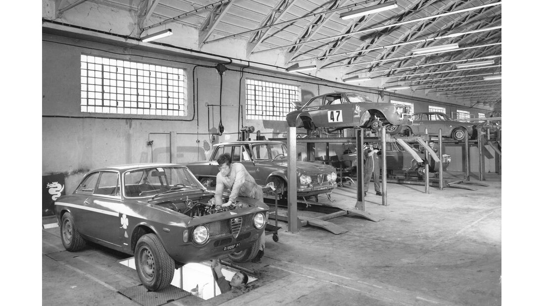 Autodelta-Werkshalle