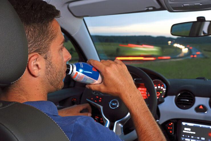 Autofahrer, Red Bull