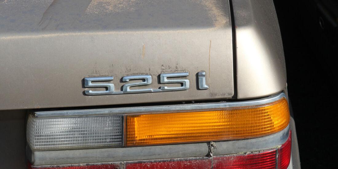 Autofriedhof Rust, BMW 525i, Heckleuchte