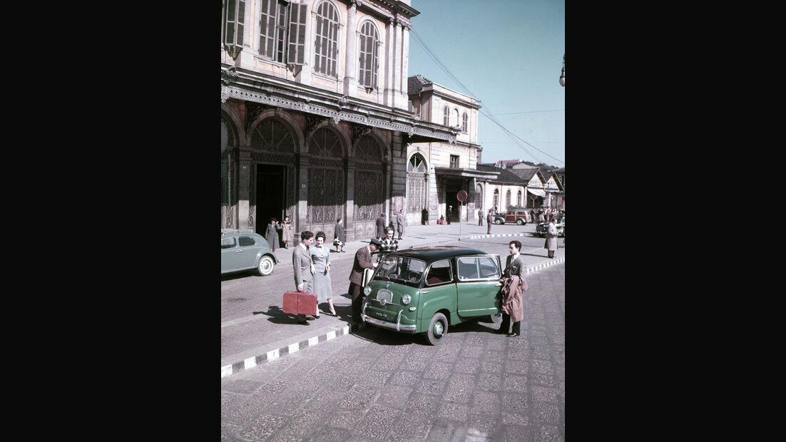 Automobil-Design, Fiat 600 Multipla, Seitenansicht