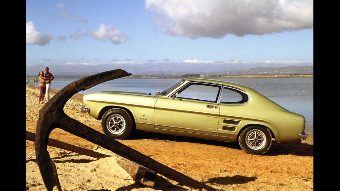 Automobil-Design, Ford Capri, Seitenansicht