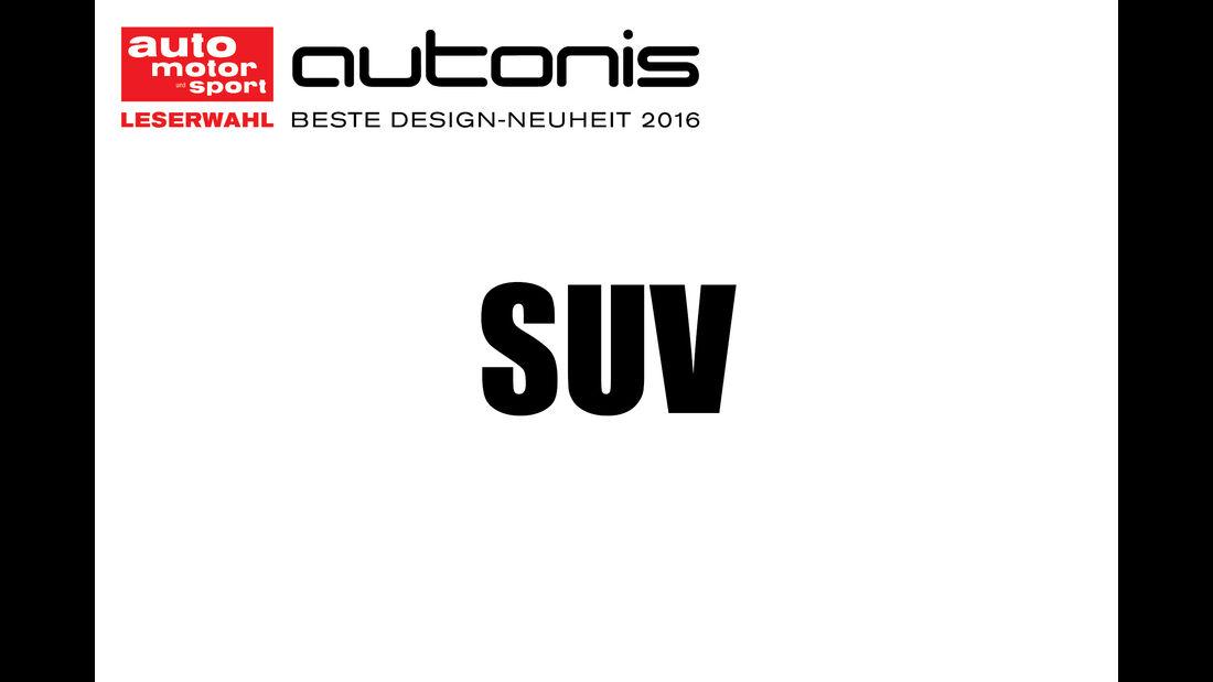 Autonis 2016, Leserwahl, Kategorien