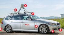 Autonomes Fahren, Testauto, Ausrüstung
