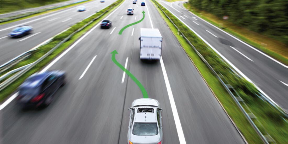 Autonomes Fahren auf der Autobahn