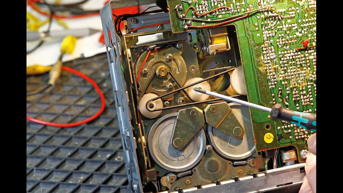 Autoradio-Kassettendecks, Reparatur, Kassettenteil