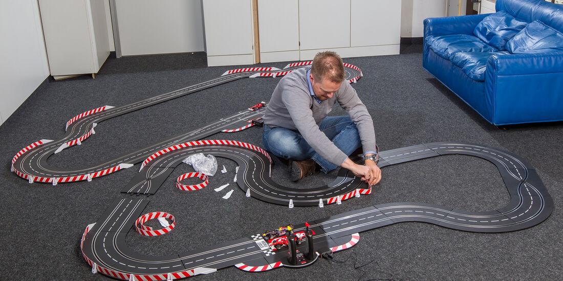 Autorennbahn, Aufbau