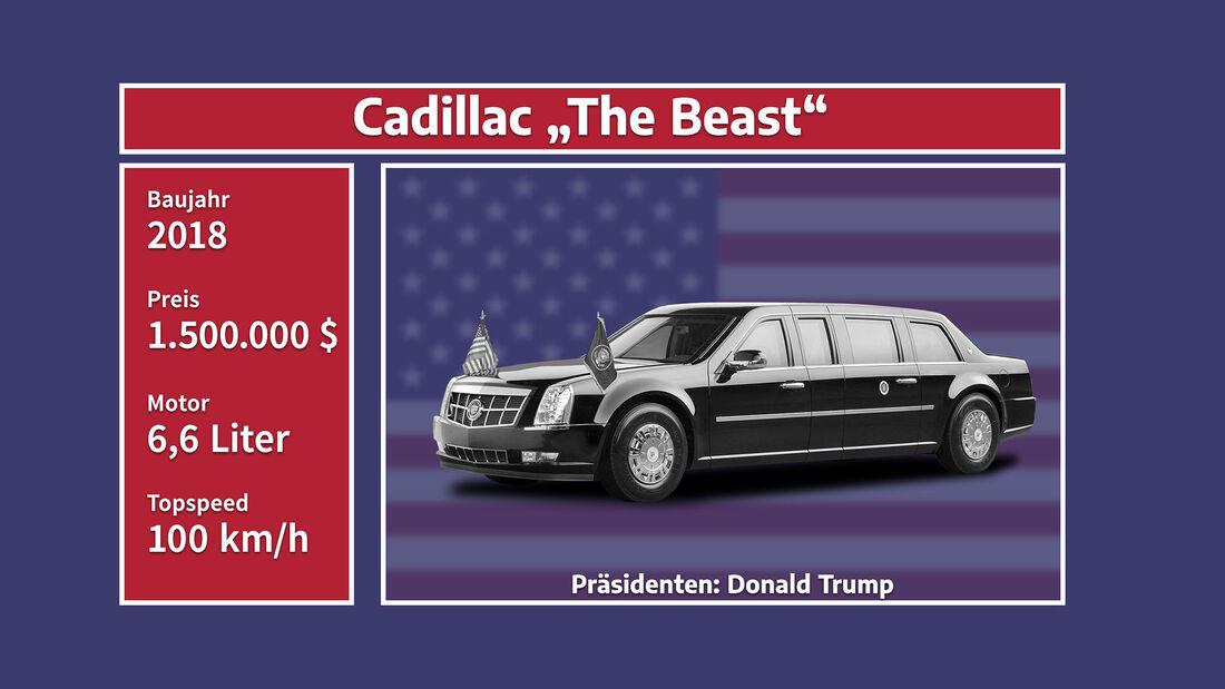 Autos der US-Präsidenten