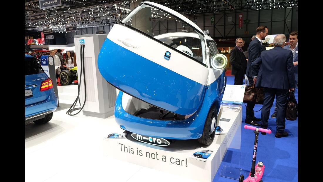 Autosalon Genf 2016 Exoten Micro Microlino
