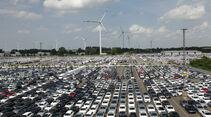 Autoterminal Bremerhaven, Parkplatz