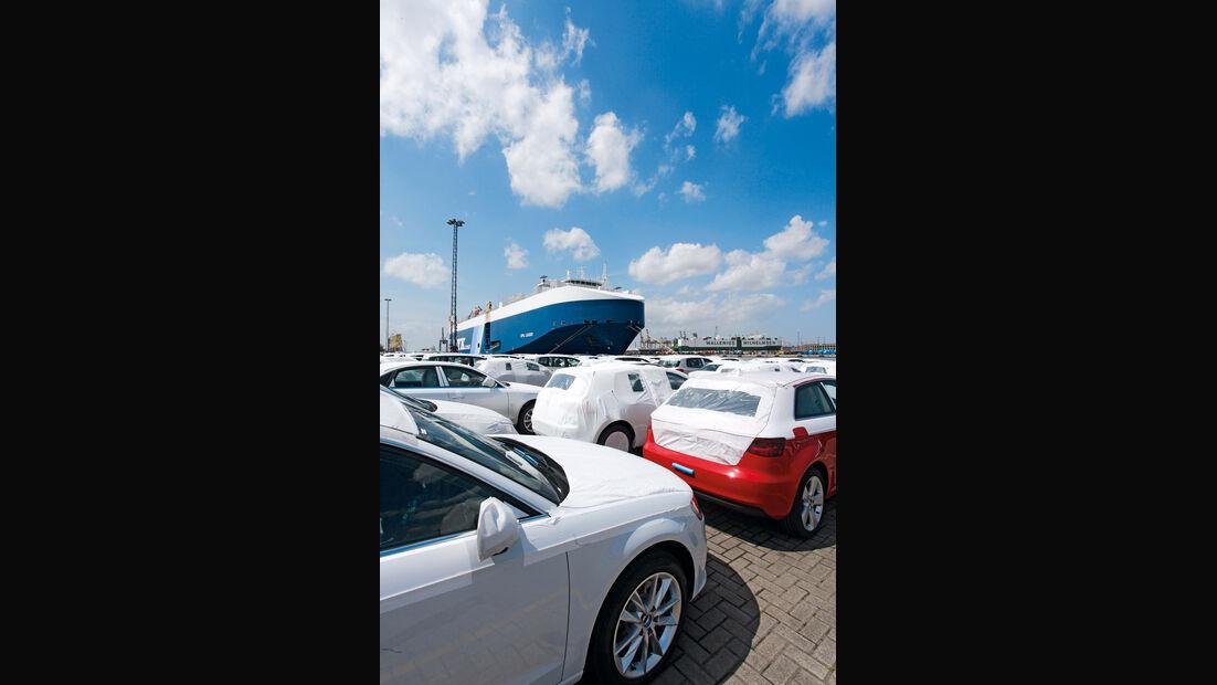 Autoterminal Bremerhaven, Warteschlange