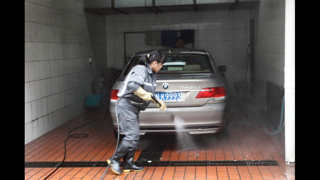 Autowäsche in China