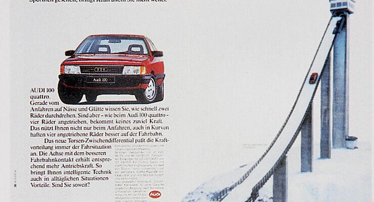 Autowerbung, Audi Quattro