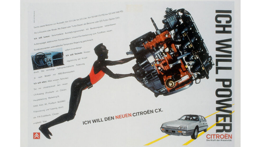 Autowerbung, Citroen CX