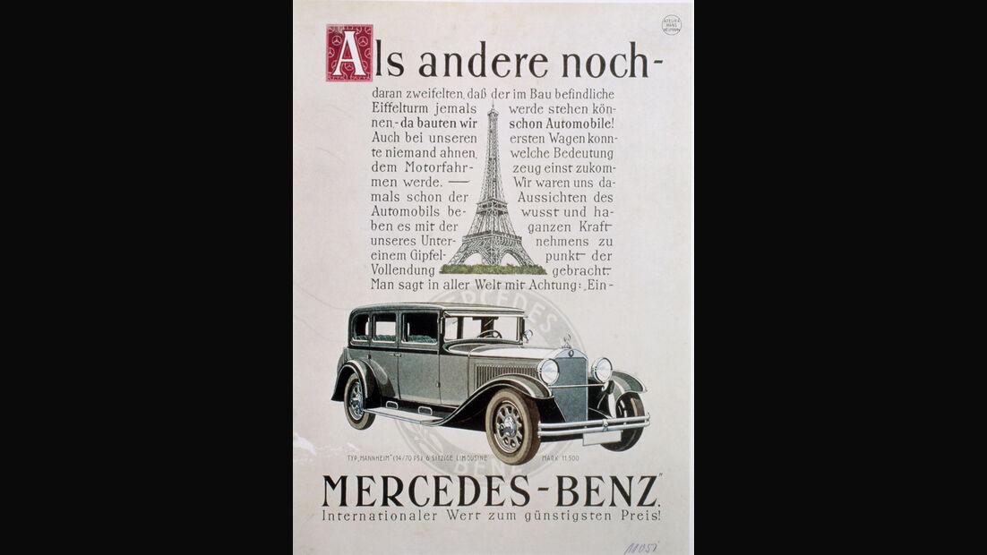 Autowerbung, Mercedes